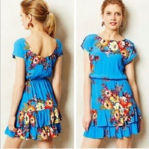 Anthropologie Floral Dress Mandra Tiered